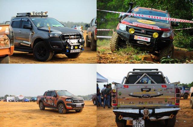 Số lượng xe Ford Ranger áp đảo các mẫu xe khác tại giải KOP năm nay.