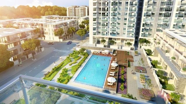 Green Bay Village có thiết kế xanh, hài hòa với thiên nhiên, an ninh 24/24 và tiện ích nội khu hoàn chỉnh.