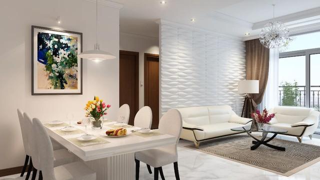 Căn hộ dịch vụ Landmark Plus được trang hoàng nội thất mang đẳng cấp 5 sao.