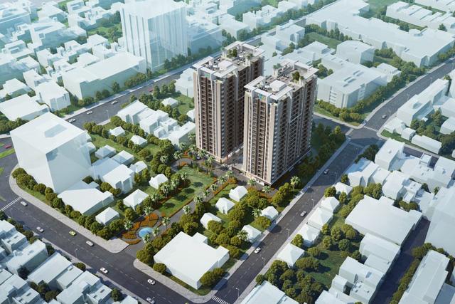 Phối cảnh tổng thể dự án Khu căn hộ thương mại cao cấp Luxcity