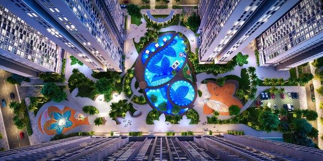 Khu căn hộ cao cấp The Arcadia gồm 3 tòa căn hộ cao 37 – 39 tầng với tầm nhìn đắt giá