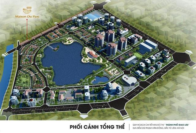 Hồ điều hòa rộng 15 ha tạo nên không gian thoáng mát cho khu đô thị