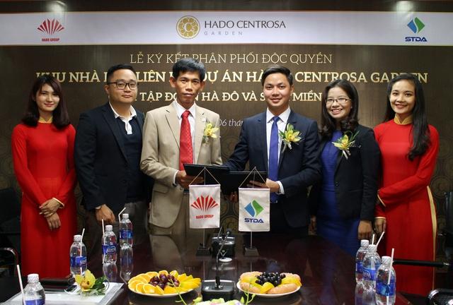 Lễ ký kết phân phối độc quyền khu nhà phố hạng sang giữa Tập đoàn Hà Đô và STDA Miền Nam