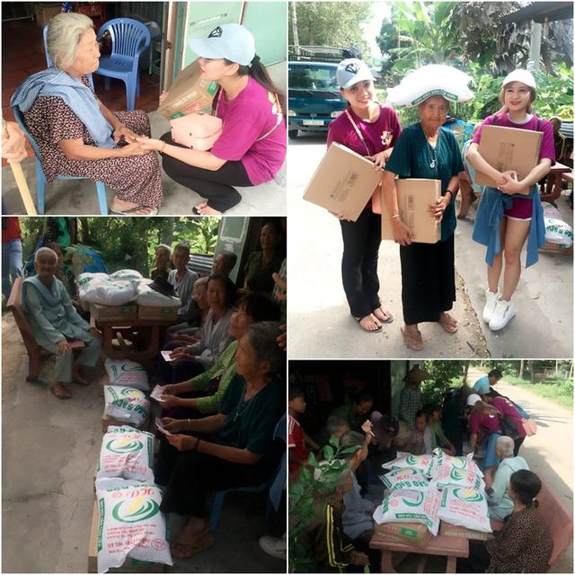 Sau đó, đoàn tiếp tục đến thăm hỏi 30 hộ người già neo đơn ở xã An Phú