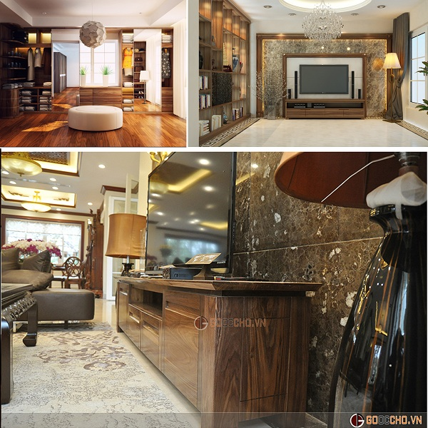 Biệt thự đẹp như mơ với nội thất bằng gỗ óc chó (2)