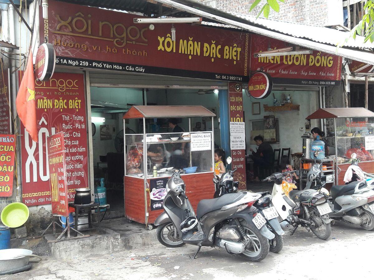 Địa điểm ăn uống :Xôi Ngọc điểm đến yêu thích mới của ẩm thực Hà thành