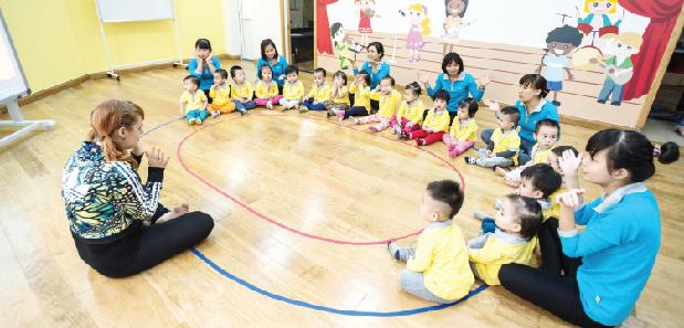 Dự án có nhà trẻ, khu vui chơi trẻ em là một điểm cộng lớn cho các gia đình trẻ.
