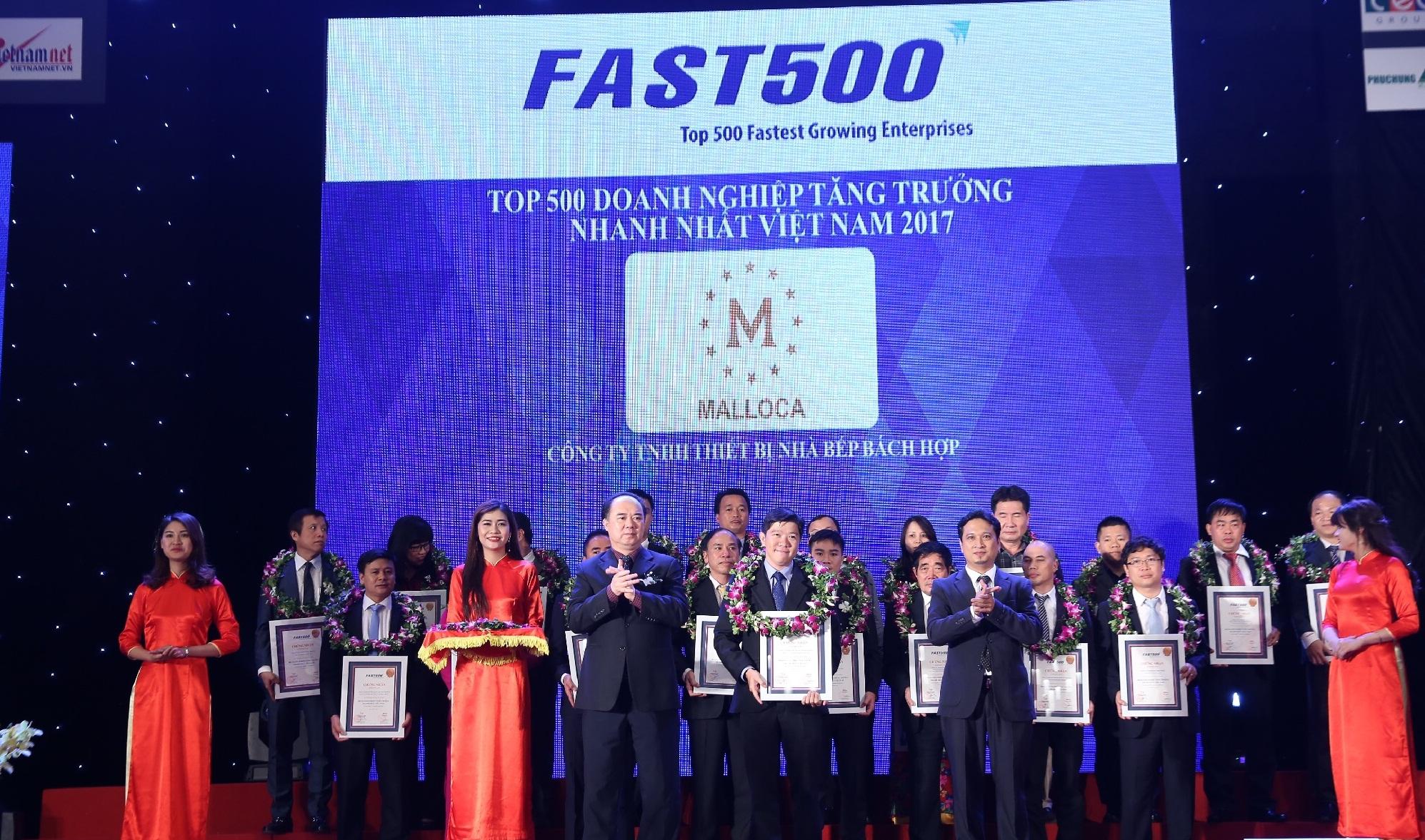 Thiết bị nhà bếp Malloca ghi danh trong bảng xếp hạng Fast 500 năm 2017