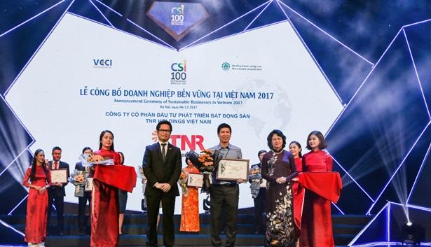 TNR Holdings Việt Nam lọt Top 10 Doanh nghiệp bền vững 2017