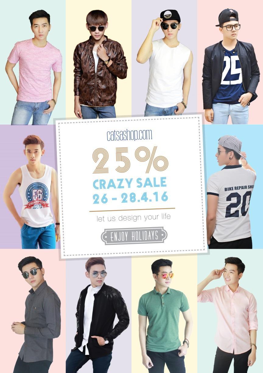 Bùng nổ Crazy Sale cho các tín đồ thời trang nam - Ảnh 1.