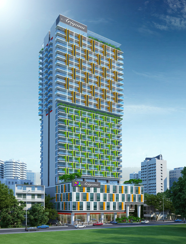 Dự án toạ lạc ngay đường Trần Hưng Đạo, chỉ cách biển chưa đến 200m, cao 28 tầng với hơn 50 tiện ích nội khu cao cấp.