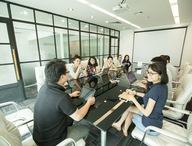 Phòng họp trao đổi, thảo luận các nội dung công việc Admicro